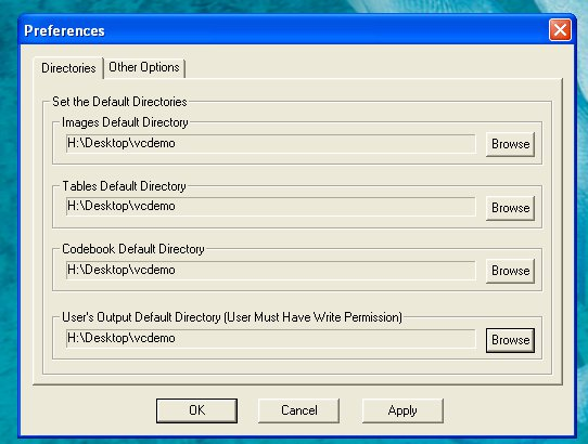 vcdemo directories